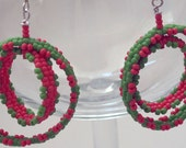 Coral and Chartreuse Dangles Just in Time for Spring and Summer