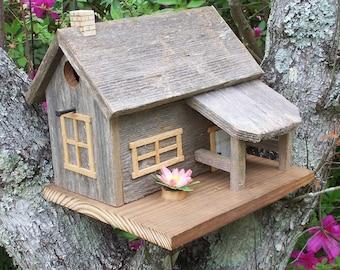 Rustic Cedar Cabin Style Birdhouse
