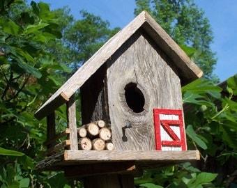Rustic Cedar Duplex Birdhouse by SwampwoodCreations on Etsy