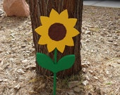 weather proof wooden sunflower