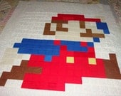 "Quilt Block Super Mario Running 23"" x 22"""