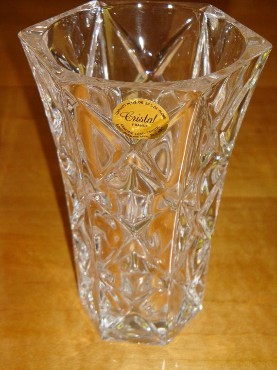 Items Similar To Avon 24 Lead Crystal Bud Vase Made In France For Avon Dated 1987 Carton