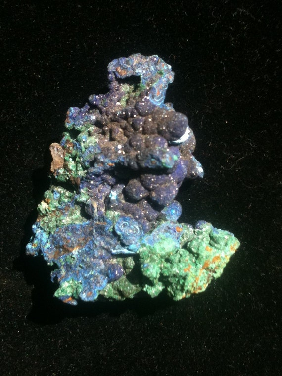Azurite/Malachite on matrix w/ Barite Super Pristine