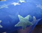Blue Sparkle Star Tulle