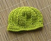 Lime Green Newborn Cotton Newsboy Cap