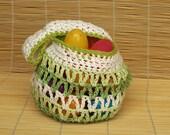Reusable Easter Basket - Green Variegated