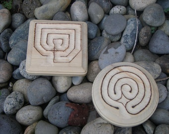 Small Three Path Finger Labyrinth