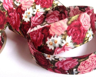 "Victorian Roses Cotton Ribbon Trim, Multi Color, 7/8"" inch wide, 1 yard, For Home Decor, Accessories, Scrapbook, Victorian & Romantic Crafts"