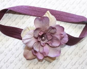 Lilac Shades  Baby Flower Headband, Baby headband, Newborn Headband, Baby Girl Flower Headband, Photography Prop