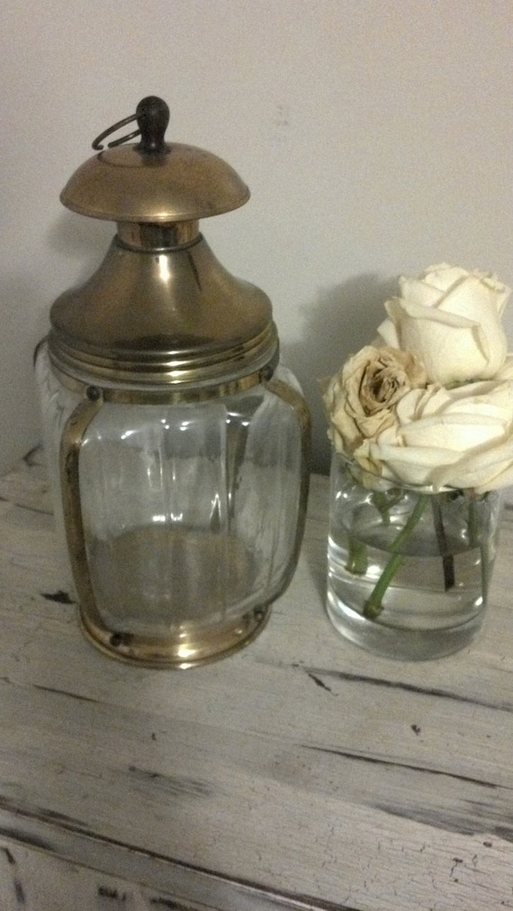 Vintage brass container for Crafts/Kitchen supplies