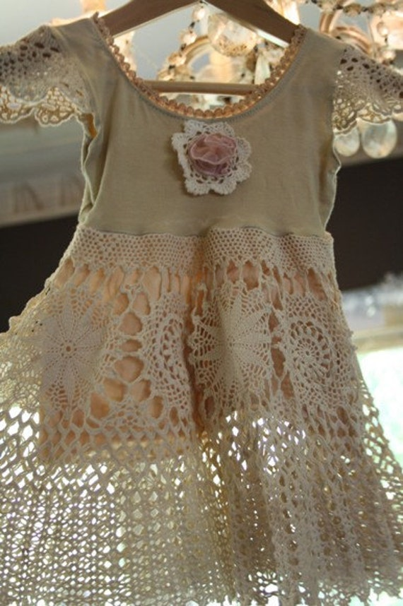Vintage lace childs dress