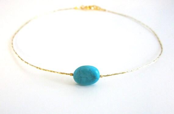Anklet Gold Turquoise Bracelet