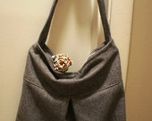 Pleated Shoulder Bag with Zippers, Made to Order