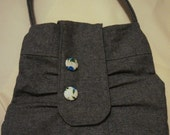 Snap-Flap/Flap-Jack Purse with Covered Buttons