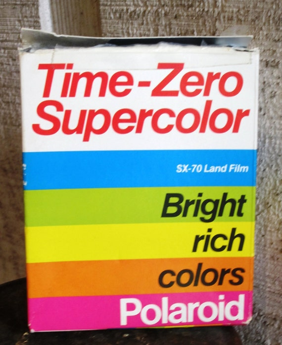 Reserved for Laura - Unused SX 70 Polaroid Land Film Time Zero Supercolor