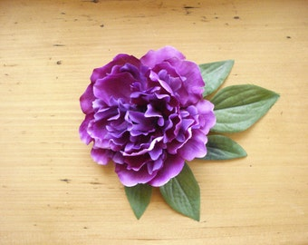 Purple Flower Hair Accessory
