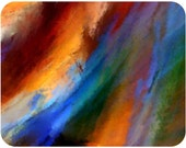 WIND 1 - Custom mouse pad, abstract art, abstract painting, colorful, expression, Computer Accessory, Office
