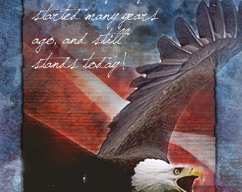 A Belief in Freedom -  patriotic greeting card, U.S.A., United states, America, Support or Troops greeting card