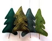 Tree Upcycled Wool Balsam Fir Ornament Botanical Sachet Balsam Scented
