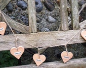 peach hearts garland wall decoration shabby chic vintage-style