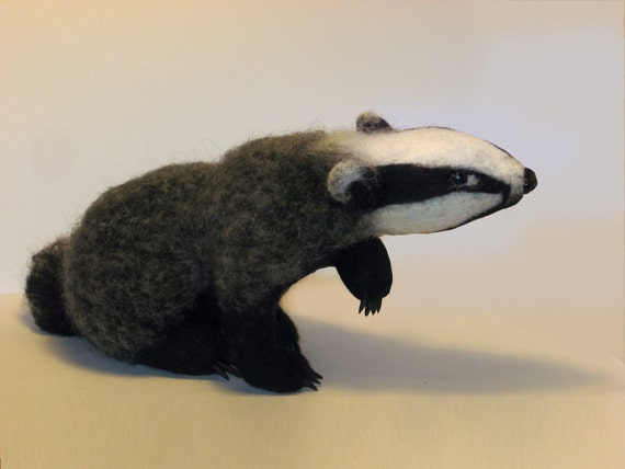 Badger.....felt toy... I will make this item for your order