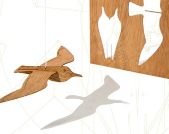 postcard wood - 3 x Sea Gull