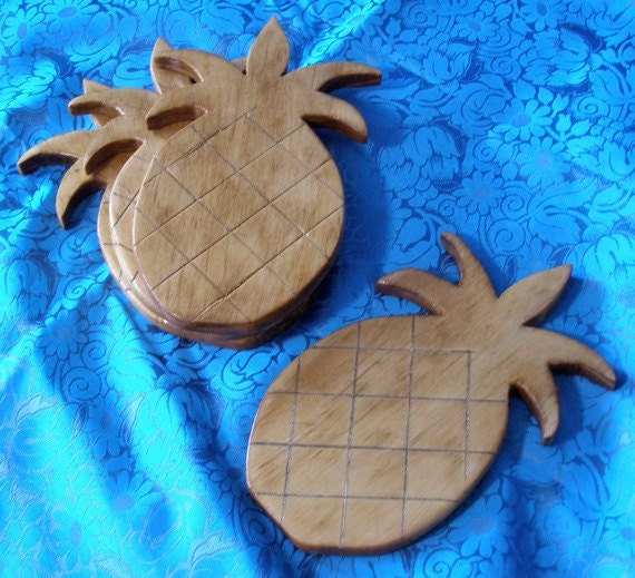 Wooden Pineapple Coasters