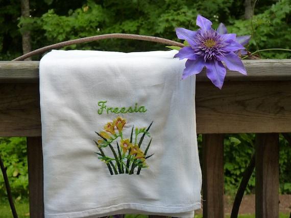 Freesia Flour Sack Dish Towel