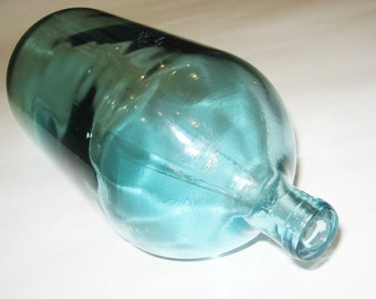 Vintage Glass apothecary Jar/Bottle from the USSR, mixed media, Art Deco