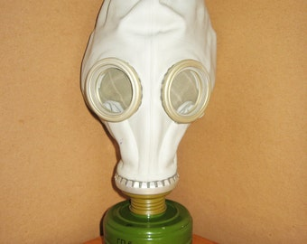 Vintage civilian Gas Mask GP-5 from Soviet Union (Russian), NEVER was not  USED, cyber mask, cyber goth respirator