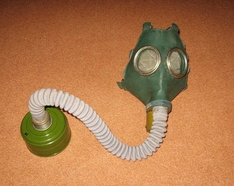Vintage Gas Mask GP-4u from Soviet Union (Russian),NEVER was not  USED, cyber mask, cyber goth respirator