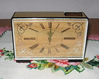 Vintage tabletop alarm clock SLAVA from USSR, watch, timer