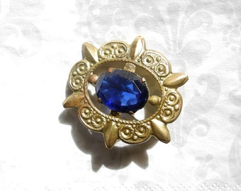 Vintage brooch pin, costume jewelry from USSR