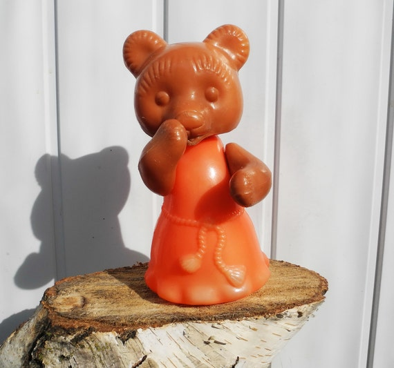 Toys...Russian USSR...Bruin bear...vintage... toys from the USSR..recall childhood.