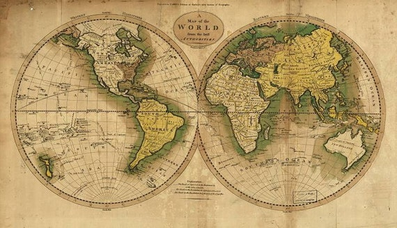 Antique world maps, Old World Map illustration Digital Image, ancient maps, ship atlas,