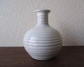 White Ribbed Bud Vase