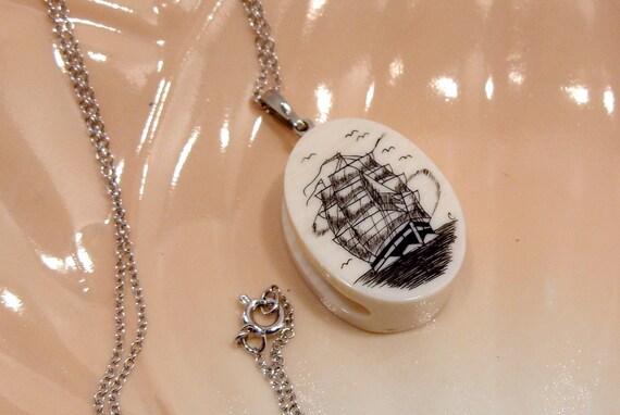 Scrimshaw Necklace