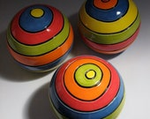 Modern Clay STRIPES WallBall - Trio of Smalls