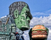 Frank 8 x 10 inch Fine Art print frankenstein eat photo hamburger food restaurant monster unusal king green scary niagara falls ontario