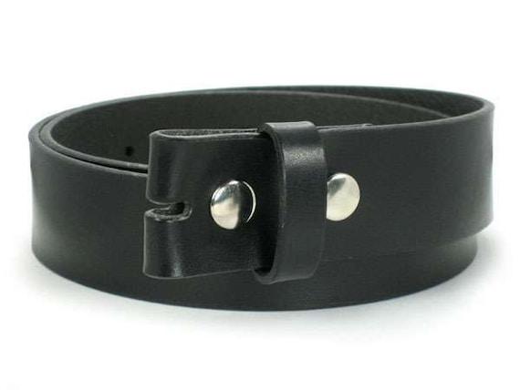 Large Black Leather Belt Strap For Belt Buckle Men And Women