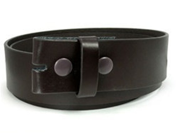 Small Brown Leather Belt Strap For Belt Buckle, Brown Interchangeable Snap On Belt Strap
