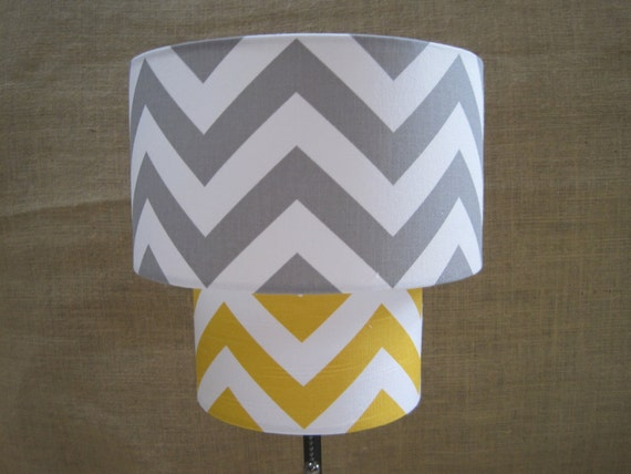 lamp shade chevron zig zag drum