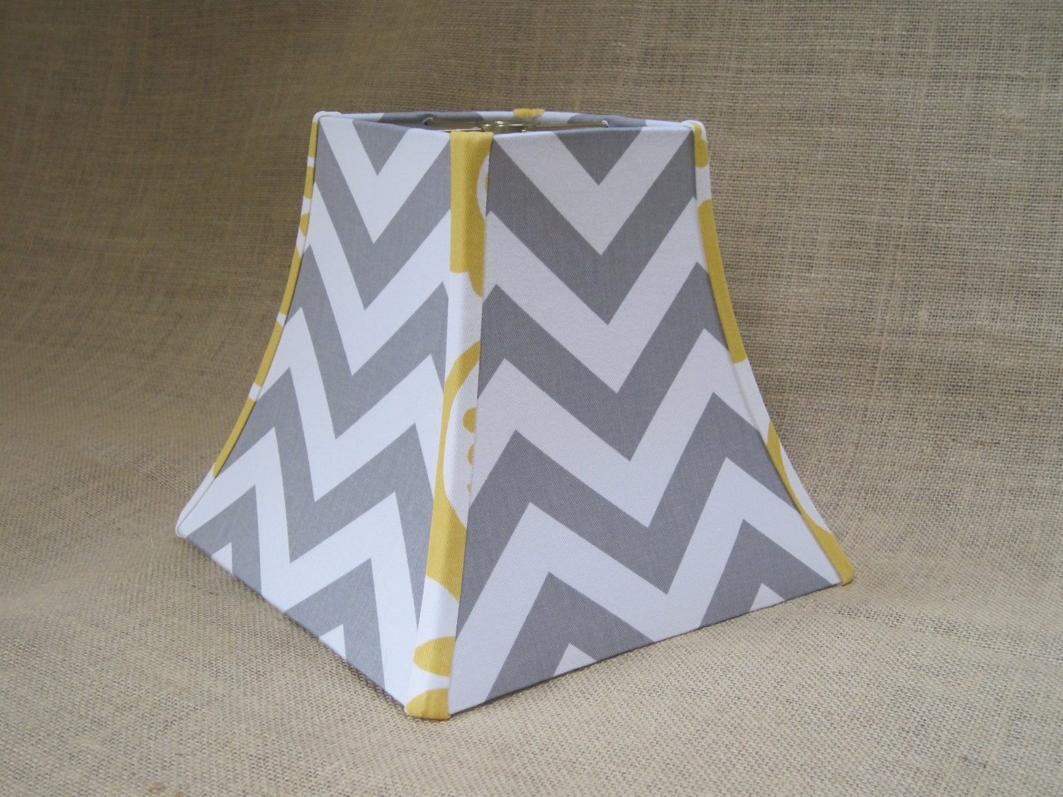 lamp shade chevron zig zag lampshade in gray by sweetdreamshades. Black Bedroom Furniture Sets. Home Design Ideas