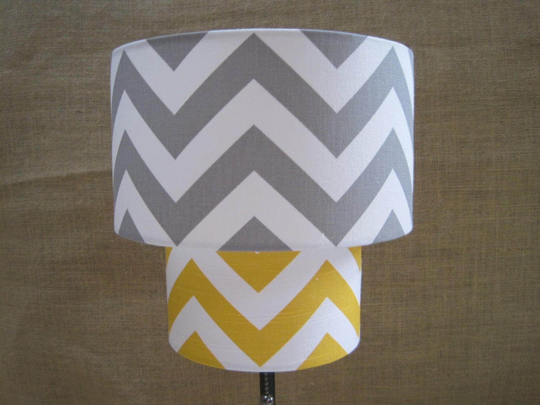 Lamp Shade Chevron Zig Zag Drum Lampshade 2 By