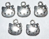 Tibetan Silver Hello Kitty Charm