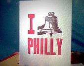 I (heart) Philly Letterpress Card