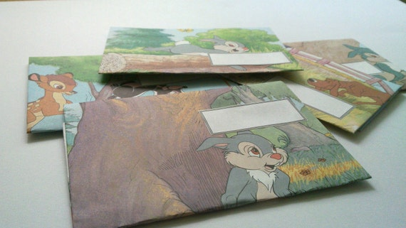 Set of 5 recycled envelopes from Thumbler book. Thumbler. Unique envelopes.