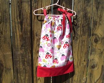 Sale ladybug pillowcase dress /birthday dress /baby girl dress