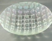 Clear iridescent woven glass bowl  50% off Clearance Sale