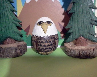 Carved Bald Eagle